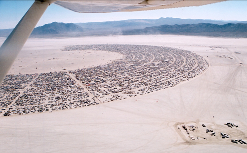 Burning Man grid pattern