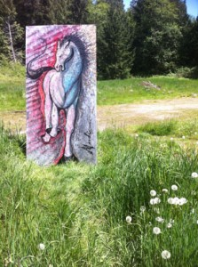 horse painting in field low-res