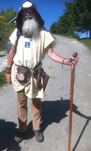 pilgrim in old style costume 920
